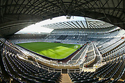A general view of St James' Park ahead of the Premier League match between Newcastle United and Southampton at St. James's Park, Newcastle, England on 8 December 2019.