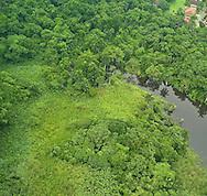 Aerial views of Clayton from Chivo Chivo. Panama.