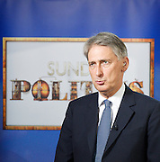 Conservative Party Conference, ICC, Birmingham, Great Britain <br /> Day 1<br /> 7th October 2012 <br /> <br /> Philip Hammond MP <br /> Defence Secretary <br /> Sunday Politics interview <br /> <br /> <br /> <br /> <br /> Photograph by Elliott Franks<br /> <br /> Tel 07802 537 220 <br /> elliott@elliottfranks.com<br /> <br /> ©2012 Elliott Franks<br /> Agency space rates apply