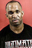 LONDON, ENGLAND, FEBRUARY 13, 2013: Jimi Manuwa poses for a portrait ahead of the pre-fight press conference for UFC on Fuel TV 7 inside London Shootfighters Gym in Park Royal, London, England on Wednesday, February 13, 2013 © Martin McNeil