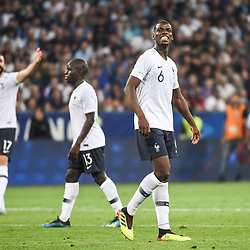 Paul Pogba of France looks dejected during the International Friendly match between France and Italy at Allianz Riviera Stadium on June 1, 2018 in Nice, France. (Photo by Anthony Dibon/Icon Sport)