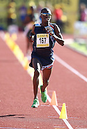 PORT ELIZABETH, SOUTH AFRICA, Friday 13 April 2012, Stephen Mokoka wins the 10000m during the Yellow Pages South African Senior and Combined Events Championships held at the Xerox Nelson Mandela Metropolitan University, Nelson Mandela Bay..Photo by Roger Sedres/Image SA/ASA