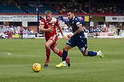 10th August 2019; Dens Park, Dundee, Scotland; SPFL Championship football, Dundee FC versus Ayr; Kane Hemmings of Dundee goes past Jamie Adams of Ayr United