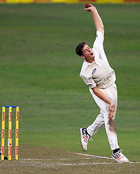 Mitch Santner during day one of the first test match between South Africa and New Zealand held at the Kingsmead stadium in Durban, KwaZulu Natal, South Africa on the 19th August 2016<br /> <br /> Photo by:   Anesh Debiky / Real Time Images