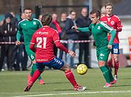 FODBOLD: Sebastian Jensen (Fredensborg BI) under kampen i Danmarksserien mellem Fredensborg BI og Slagelse BI den 7. april 2018 på Fredensborg Stadion. Foto: Claus Birch