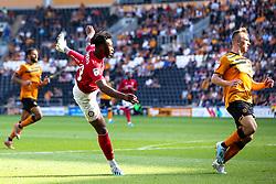 Antoine Semenyo of Bristol City shoots at goal - Mandatory by-line: Robbie Stephenson/JMP - 24/08/2019 - FOOTBALL - KCOM Stadium - Hull, England - Hull City v Bristol City - Sky Bet Championship
