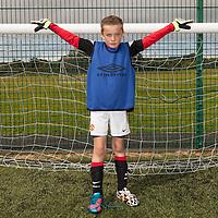 Noah McNamara Deeney in goals at the FAI Eflow Summer Soccer School in Lisdoonvarna