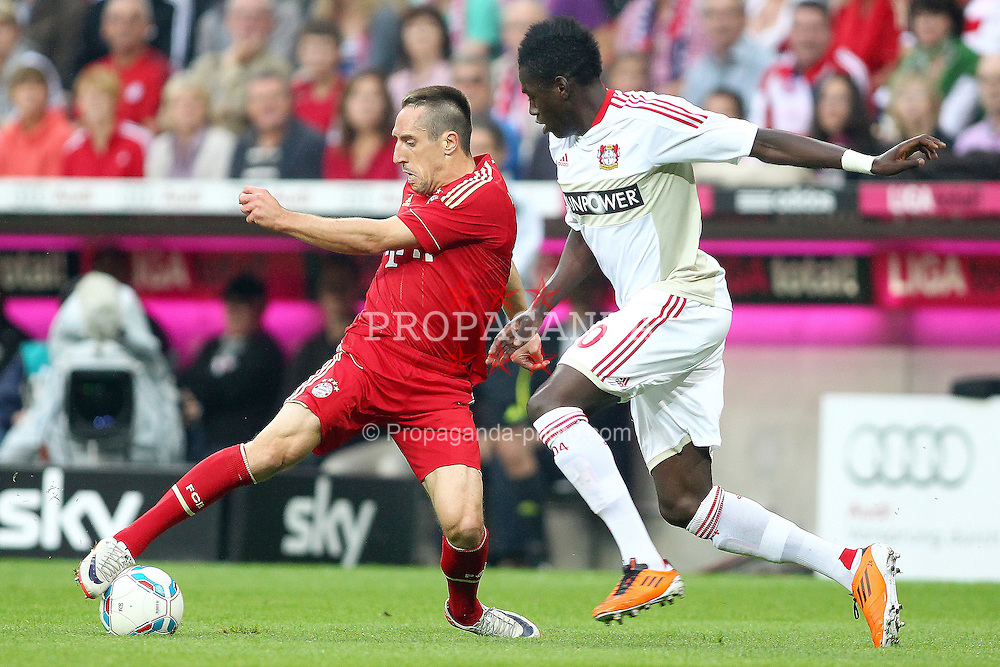24.09.2011, Allianz Arena, Muenchen, GER, 1.FBL,  FC Bayern vs Bayer 04 Leverkusen, im Bild  Franck Ribery (Bayern #7) im kampf mit Danny da Costa (Leverkusen #20)  // during the  FC Bayern vs Bayer 04 Leverkusen, on 2011/09/24, Allianz Arena, Munich, Germany, EXPA Pictures © 2011, PhotoCredit: EXPA/ nph/  Straubmeier       ****** out of GER / CRO  / BEL ******