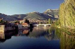 Bosnia-Herzegovina:  River/bridge view of Trebinje, an old and historic town.