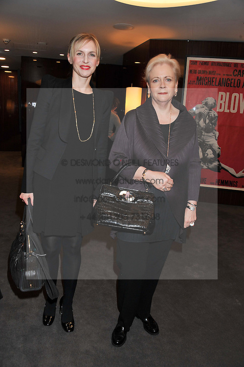 Left to right, SANDRA KLEEFUSS WATERSTON and JULIE ANN MORRISON MD of Bulgari UK at a party to celebrate the publication of The Impossible Collection of Jewelry by Vivienne Becker hosted by Assouline and Bulgari at the Bulgari Hotel, 171 Knightsbridge, London on 17th January 2013.