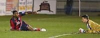 Kezie Ibe & Luke McCormick in game between Eastbourne Borough Football Club & Truro City FC