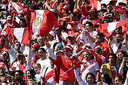 Peruvian fans warm up for the match against New Zealand in the Soccer World Cup qualifying match, Westpac Stadium, Wellington, New Zealand, Saturday, November 11, 2017. Credit:SNPA / Ross Setford