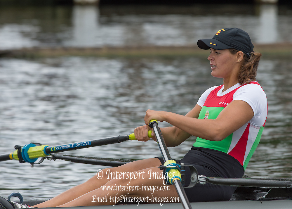 Henley. Great Britain.  HUN W1X. Krisztina GYIMES. winning her heat in the Princess Royal Challenge Cup at the 175th  Henley Royal Regatta, Henley Reach. England. 14:09:23  Saturday  05/07/2014. [Mandatory Credit; Peter SPURRIER/Intersport-images]