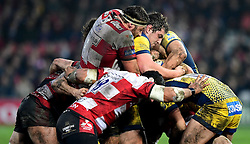 Val Rapava Ruskin of Worcester Warriors and Jeremy Thrush of Gloucester Rugby in the maul  - Mandatory by-line: Joe Meredith/JMP - 07/01/2017 - RUGBY - Kingsholm - Gloucester, England - Gloucester Rugby v Worcester Warriors - Aviva Premiership