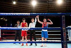 Tomi Lorencic of Slovenia (BLUE) won against Marcel Meinl of Austria (RED) in Elite 64 kg Category during Dejan Zavec Boxing Gala event in Sentilj, on September 30, 2017 in Mond, Casino & Hotel, Sentilj, Slovenia. Photo by Vid Ponikvar / Sportida