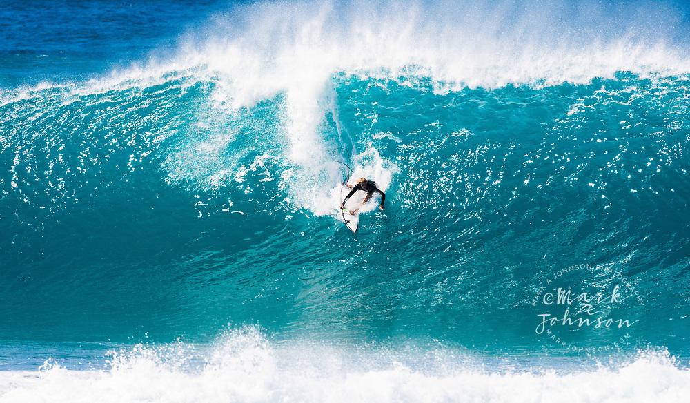 John John Florence, World Champion Professional Surfer at the Banzai Pipeline, North Shore, Oahu, Hawaii