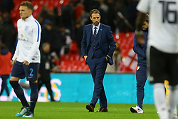 England Manager Gareth Southgate walks on the pitch following England draw 0-0 against Germany - Mandatory by-line: Jason Brown/JMP - 10/11/2017 - FOOTBALL - Wembley Stadium - London, England - England v Germany - International Friendly