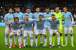 "Foto LaPresse/Filippo Rubin<br /> 12/05/2019 Ferrara (Italia)<br /> Sport Calcio<br /> Spal - Napoli - Campionato di calcio Serie A 2018/2019 - Stadio ""Paolo Mazza""<br /> Nella foto: FOTO DI SQUADRA SPAL<br /> <br /> Photo LaPresse/Filippo Rubin<br /> May 12, 2019 Ferrara (Italy)<br /> Sport Soccer<br /> Spal vs Napoli - Italian Football Championship League A 2018/2019 - ""Paolo Mazza"" Stadium <br /> In the pic: SPAL TEAM PHOTO"