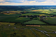 Nederland, Drenthe, Geeserveld, 30-06-2011; Geeserveld, landbouwgebied en net ontgonnen land, kabbelende beken..Agricultural area with brook in the North East of the Netherlands..luchtfoto (toeslag), aerial photo (additional fee required).copyright foto/photo Siebe Swart