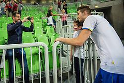 Danijel Koncilja of Slovenia during friendly volleyball match between national teams of Slovenia and Brasil in Arena Stozice on 9. September 2015 in , Ljubljana, Slovenia. Photo by Grega Valancic / Sportida