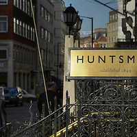 Huntsman shop sign, Savile Row, London