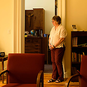 June 1, 2016 - New York, NY : The Missionary Sisters of the Immaculate Heart of Mary (I.C.M.)  are selling their 25-bedroom, two-story, combined two-townhome property located at 236 East 15th Street. Here, sister Katie Vercelline poses in the chapel on Wednesday morning. CREDIT: Karsten Moran for The New York Times