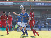 Callum Camps of Rochdale balances the ball on his head during the EFL Sky Bet League 1 match between Rochdale and Charlton Athletic at Spotland, Rochdale, England on 5 May 2018. Picture by Paul Thompson.