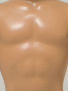 torso of muscular male doll