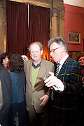 CRAIG BROWN; ANDREW BARROW, Party to celebrate the publication of Animal Magic by Andrew Barrow. Tite St. London. 28 February 2011.  -DO NOT ARCHIVE-© Copyright Photograph by Dafydd Jones. 248 Clapham Rd. London SW9 0PZ. Tel 0207 820 0771. www.dafjones.com.