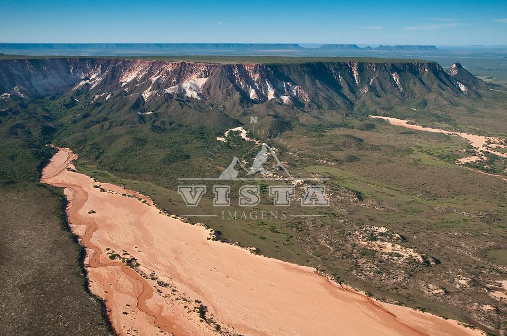 Vista aerea das dunas da Serra do Espirito Santo, Parque Estadual do Jalapão, Tocantins, Brasil, foto de Ze Paiva, Vista Imagens.
