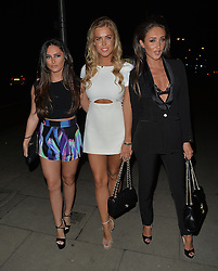 Megan Mckenna takes her friends new TOWIE members Chloe Meadows and Courtney Green to Faces nightclub in Essex, UK. 27/02/2016<br />