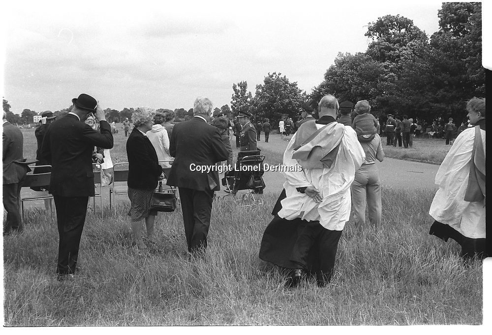 Aristocracy, Army and Clergy, Blackheath, London street photography in 1982. Tri-X