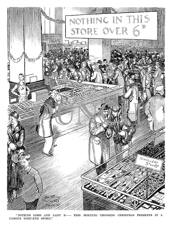 """Noticed Lord and Lady B —  This morning choosing Christmas presents in a famous West-End store."""