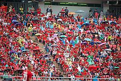 BANGKOK, THAILAND - Sunday, July 28, 2013: Supporters during a preseason friendly match between Liverpool and Thailand XI at the Rajamangala National Stadium. (Pic by David Rawcliffe/Propaganda)