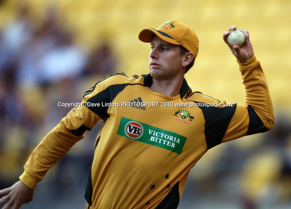 Australia's Adam Voges.<br /> Fifth Chappell-Hadlee Trophy one-day international cricket match - New Zealand v Australia at Westpac Stadium, Wellington. Saturday, 13 March 2010. Photo: Dave Lintott/PHOTOSPORT