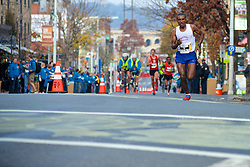 Gore-tex Philadelphia Marathon, Philadelphia, PA, USA - November 17, 2013; <br /> Abebe Mekuriya, pictured here in the lead in Manayunk, wins the 2013 Philadelphia Marathon (Men) in 2:17:34.70