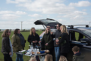 KATIE BLACKWELL; LIZA PHILLIPS; TANYA STREETER; SAM PHILLIPS; CATHERINE CAZALET;, Heythrop Point to Point, Cocklebarrow, 2 April 2017.