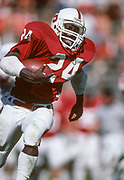 COLLEGE FOOTBALL:  Kevin Scott #24, Stanford running back, in action during Stanford vs Washington State on October 20, 1984 at Stanford Stadium in Palo Alto, California.  Photograph by David Madison.(WWW.DAVIDMADISON.COM)