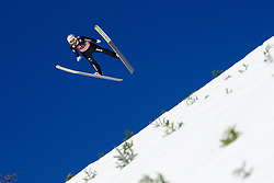 March 23, 2019 - Planica, Slovenia - Kilian Peier of Switzerland in action during the team competition at Planica FIS Ski Jumping World Cup finals  on March 23, 2019 in Planica, Slovenia. (Credit Image: © Rok Rakun/Pacific Press via ZUMA Wire)