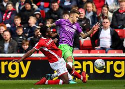 Jamie Paterson of Bristol City takes on Andy Yiadom of Barnsley - Mandatory by-line: Robbie Stephenson/JMP - 30/03/2018 - FOOTBALL - Oakwell Stadium - Barnsley, England - Barnsley v Bristol City - Sky Bet Championship