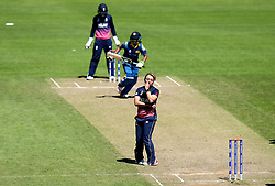 Danielle Hazell of England Women looks frustrated - Mandatory by-line: Robbie Stephenson/JMP - 02/07/2017 - CRICKET - County Ground - Taunton, United Kingdom - England Women v Sri Lanka Women - ICC Women's World Cup Group Stage