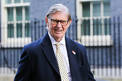 © Licensed to London News Pictures. 22/10/2019. London, UK. Member of European Research Group (ERG) SIR BILL CASH departs from No 10 Downing Street after meeting the Prime Minister BORIS JOHNSON. Photo credit: Dinendra Haria/LNP