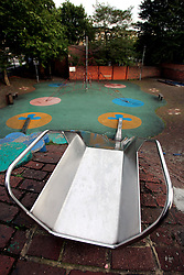 UK ENGLAND LONDON 26SEP05 - Deserted playground in Maida Vale, Westminster, city of London...jre/Photo by Jiri Rezac ..© Jiri Rezac 2005..Contact: +44 (0) 7050 110 417.Mobile: +44 (0) 7801 337 683.Office: +44 (0) 20 8968 9635..Email: jiri@jirirezac.com.Web: www.jirirezac.com..© All images Jiri Rezac 2005 - All rights reserved.