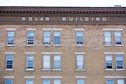The facade of the Solar Building in Watertown, New York, on August 11, 2014. The troubled property was recently purchased by Washington Street Properties.