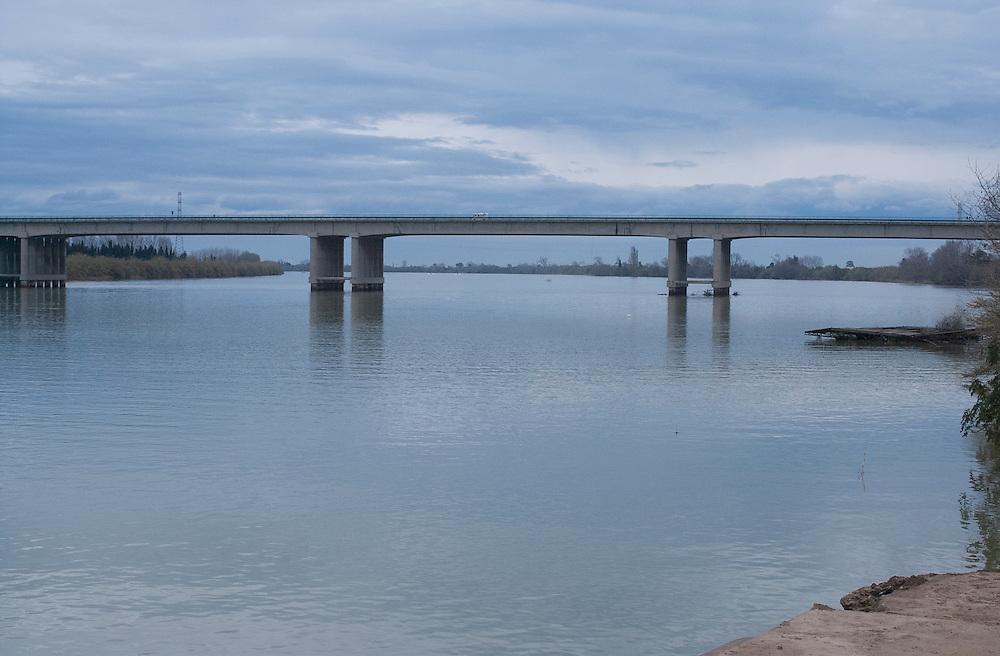 Bridge over the River Ebro at Amposta, Spain