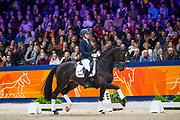 Mara de Vries - King de Niro Magni<br /> KWPN Hengstenkeuring 2020<br /> © DigiShots