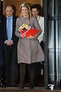 """Prinses Máxima is aanwezig bij de conferentie 'Feeding the World 2013' waar zij een toespraak heeft gehouden.<br /> <br /> Princess Máxima attends the conference """"Feeding the World 2013 'where she has held a speech."""
