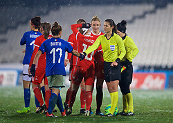 CESENA, ITALY - Tuesday, January 22, 2019: Referee Marina Visnjic after the International Friendly between Italy and Wales at the Stadio Dino Manuzzi. Italy won 2-0. (Pic by David Rawcliffe/Propaganda)