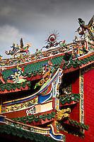 Decorative Chinese temple in Kuching, Sarawak.