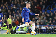 Ross Barkley of Chelsea (8) passing the ball during the Champions League group stage match between Chelsea and PAOK Salonica at Stamford Bridge, London, England on 29 November 2018.